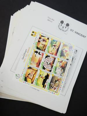 EDW1949SELL : ST VINCENT Beautiful collection of all Diff. VF MNH Disney issues.
