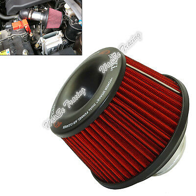 Universal APEXI Dual Funnel Air Filter Cleaner Intake Mushroom Adapter Kit 75mm