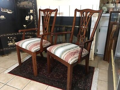 2 Ethan Allen Chairs Heirloom Wooden Furniture Chair Set Wood Dining Table Seat
