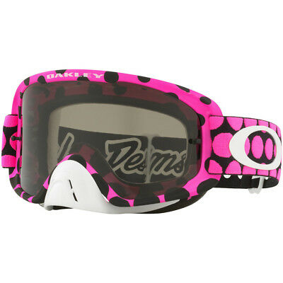 20a63cfb41d NEW Oakley MX O Frame 2.0 TLD Faded Dot Pink Troy Lee Tinted Motocross  Goggles