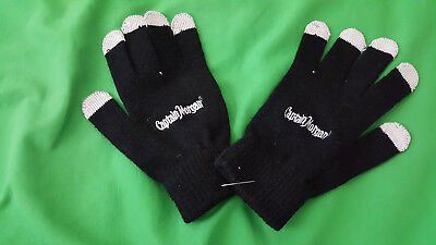 Captain Morgan, black color women's small size gloves, NEW.