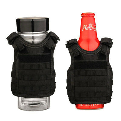 Cool Miniature Molle Vest Wine Bottle Vest Adjustable Bottle Protection Vest