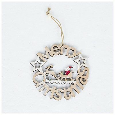 Suibao Christmas Decoration Pendant Wooden Skeleton Letters Tag Decoration FU
