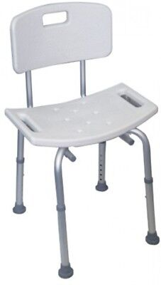 Shower Stool with Back (Eligible for VAT relief in the UK)-90271