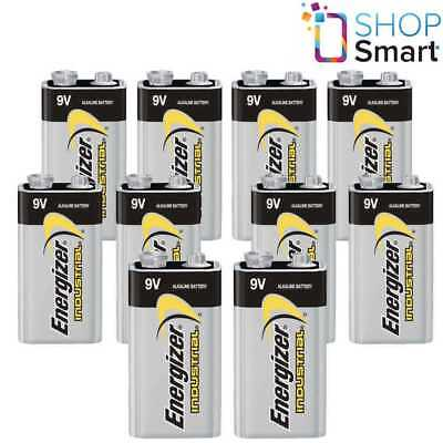 10 Energizer Alkaline 6Lr61 Battery 9V Industrial E Block 6Am6 Mn1604 En22 New
