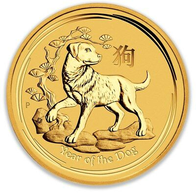 2018 Perth Mint Gold Lunar Dog 1/10 oz Bullion Coin
