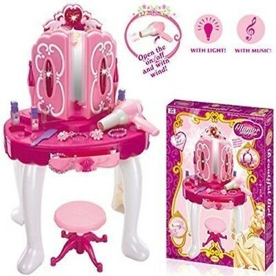 Deluxe Girls Pink Musical Dressing Table -11623