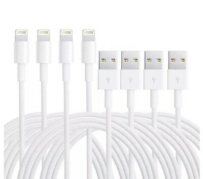4-PACK Charging Cord USB Data Power Cables For Original Apple Iphone 5 S 6 7 8 X