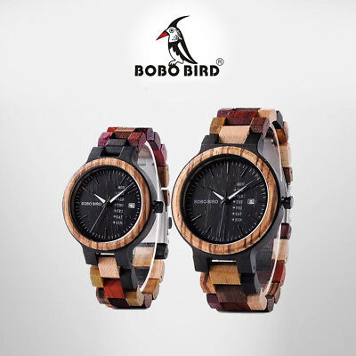 BOBO BIRD Wooden Watch Multi-Color His & Hers Matching Set with Premium Wood Box