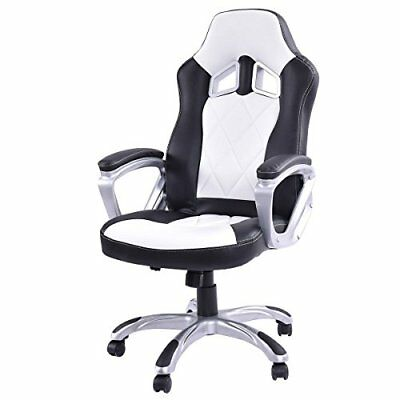 Giantex High Back Racing Style Bucket Seat Gaming Chair Swivel Office Desk Task