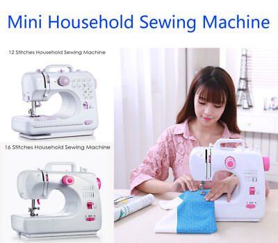 12/16 Stitches Mini Portable Sewing Machine Electric Household Tailor Machine
