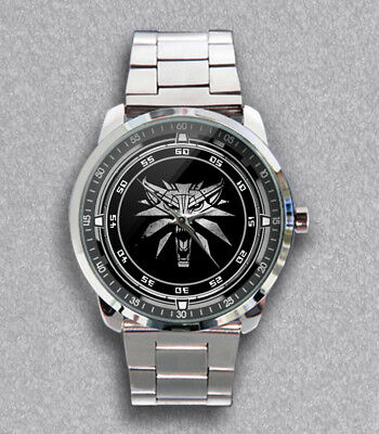 cb06deed584 Get New The Witcher 3 White Wolf Unisex Stainless Steel Metal Watch
