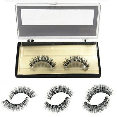 2PCS Soft Mink Natural False Fake Eyelashes Eye Lashes Extension Stylish Gift