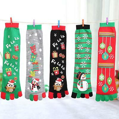 Women Warm Toe Socks Girl Five Fingers Bed Lounge cotton Xmas Christmas 2018