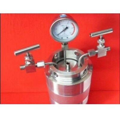 Hydrothermal synthesis Autoclave Reactor vessel + inlet outlet gauge 200ml 6Mpa
