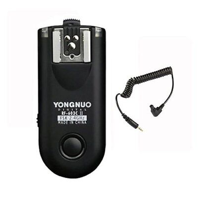 1 x Yongnuo RF-603C II C3 Wireless Remote Flash Trigger for Canon + C1 Cable UK