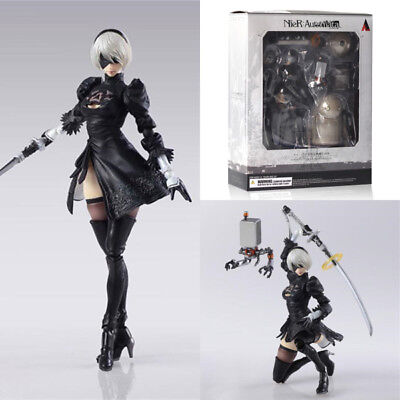 Play Arts NieR:Automata 2B & Machine Lifeform Action Figure Figurine Jouets Toys