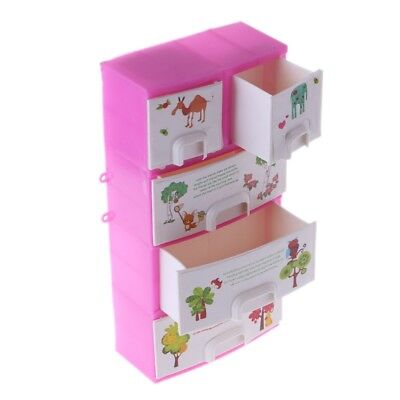 Printing Closet Wardrobe Cabinet For Barbie Doll Accessories Toys Hot