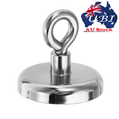AU! 68Kg Salvage Strong Recovery Magnet Neodymium Hook Treasure Hunting Fishing