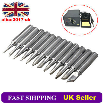 12Pcs Solder Screwdriver Soldering Iron Tip for Hakko Station 900M-T Tool 4mm