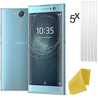 5 X Clear Plastic Screen Guard LCD Protector Film Layer For Sony Xperia XA2