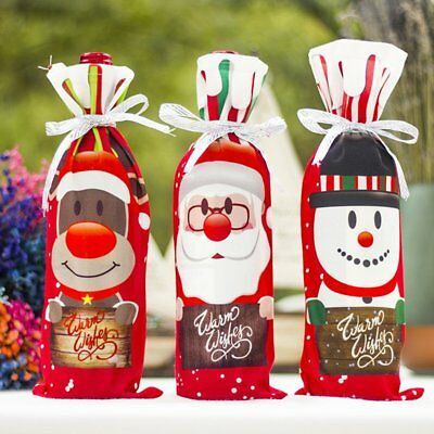 Christmas Red Wine Bag Christmas Decoration Red Wine Bottle Decoration Bag N2