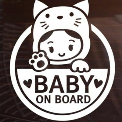 """Chic """"Baby In Car"""" Baby on Board Safety Sign Cute Car Decal Vinyl Sticker"""