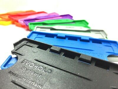 Double Sided Plastic Rigid ID Card Badge Holder - Choose Your Colour - FREEPOST