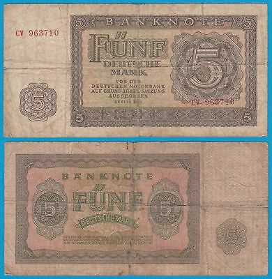 DDR Banknote 5 Mark 1955 Ros. 349a VG (5)   (20948
