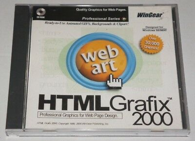 HTML Grafix 2000: Professional Graphics for Web Page Design - PC CD, 2000 - ede