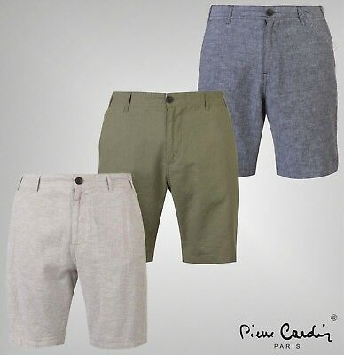 Men's Clothing Obliging Pierre Cardin Check Belted Shorts Mens Gents Chino Pants Trousers Bottoms Chinos