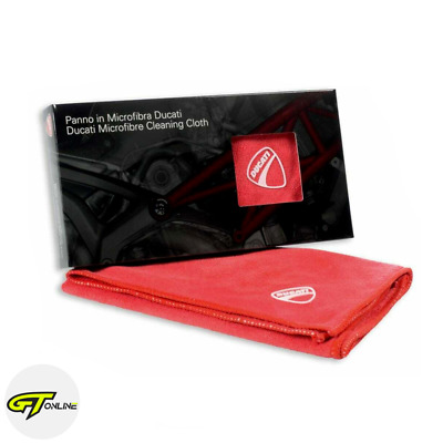 Genuine Ducati Red Microfibre Motorcycle Cleaning Cloth | OEM | 888060005
