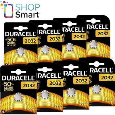 8 Duracell Cr2032 Lithium Batteries 3V Coin Cell Dl2032 Exp 2027 New