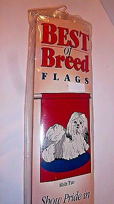 "SHIH TZU Dog Flag Nylon NEW Best Breed Collection Indoor Outdoor 28x40"" Banner"