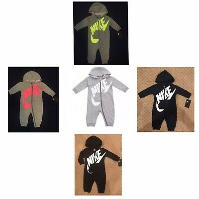 1a4f30753d5 Nike Futura Baby Infant Boys Coveralls Bodysuit Romper Choose Color   Size