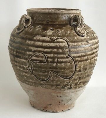 Song Dynasty Guangdong stoneware 12th Century Jar With Buddhist Sanskrit Script