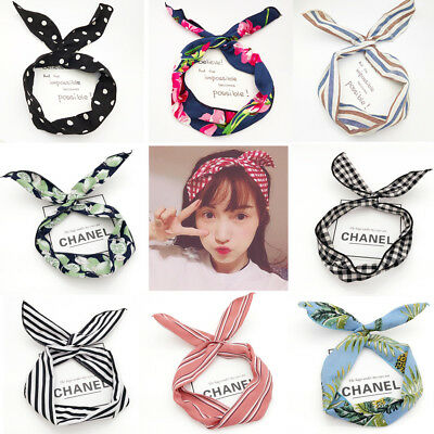 Wire Headband Retro Wired Head Scarf Rockabilly Wire Hair Band Vintage Head Wrap