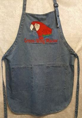 Green Wing Macaw, Parrot, Bird, BBQ, Chefs, Work, Groomers, Embroidered Apron