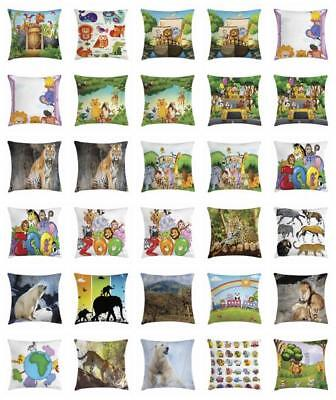 Zoo Throw Pillow Cases Cushion Covers Home Decor 8 Sizes Ambesonne