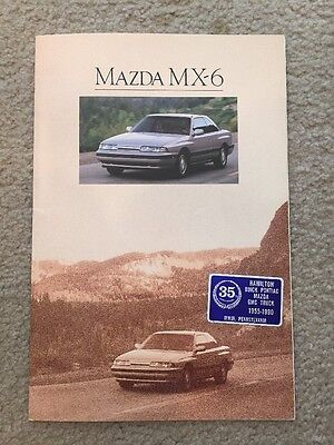 1990 Mazda MX-6 Sports Coupe 16 Page Sales Brochure, Excellent Condition