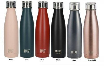 Built New York 483ml Double Walled Stainless Steel Travel Water Bottle