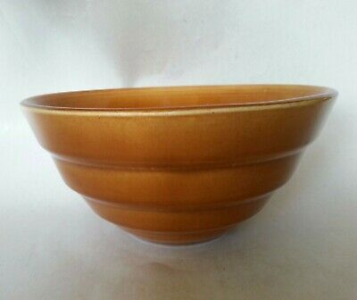 Antique ART DECO    BAUER POTTERY BROWN RINGWARE BOWL MIXING MID CENTURY MODERN