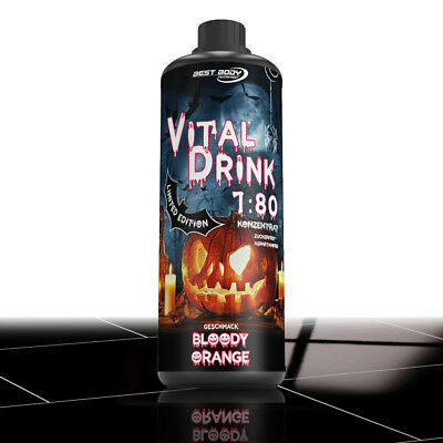 Best Body Nutrition Low Carb Vital Drink 1000 ml Bloody Orange Limited Edition