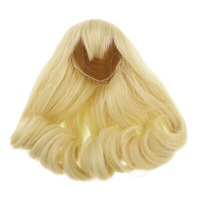 Doll Wigs High-temperature Wire Hair Long Curls For 1/3 BJD DOD LUTS Golden