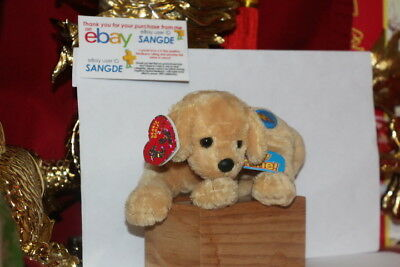 "Ty 2.0 Beanie Baby Fletch The Dog-4"" X 7""-Unused Code-2007-Mwnmt-Nice Gift"