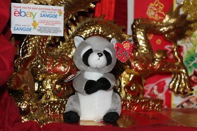 "Ty 2.0 Beanie Baby Ricky The Racoon-6""-Unused Code-2009-Mwnmt-Nice Gift"