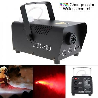 Wireless LED 500W Fog/Smoke Machine w/ Remote+Fluid Quick Heatup Thick Fog