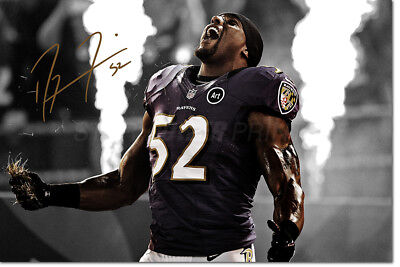 Ray Lewis Photo Print Poster Pre Signed - 12 X 8 Inch - Premium Quality - N.o 2