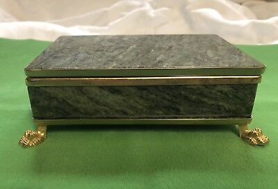 Connemara Marble Jewelry Trinket Box Vintage Irish