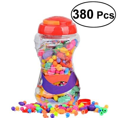 380pcs Snap Pop Beads Toy DIY Jewelry Kit Necklace Art Crafts Gift for Kids Girl